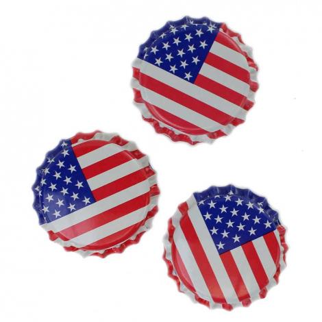 American Flag Bottle Caps - 1 Pound