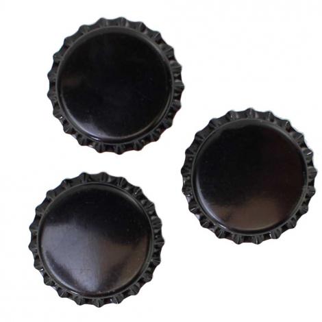 Black Bottle Caps - 1 Pound