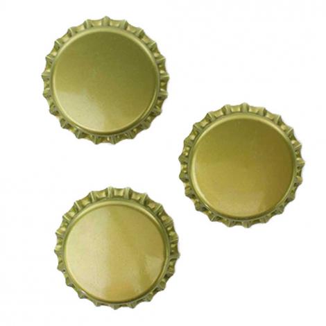 Gold Bottle Caps - 1 Pound