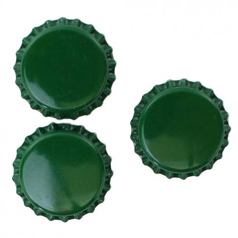 Green Bottle Caps - 1 Pound