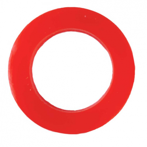 Red Silicone Flat O-Ring