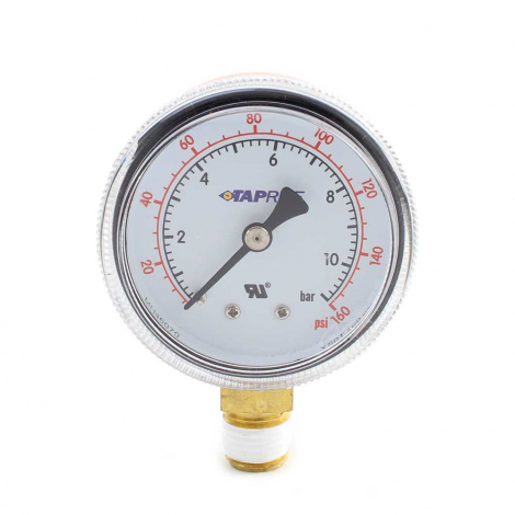 Taprite Regulator Gauge - Line Pressure - 60 PSI