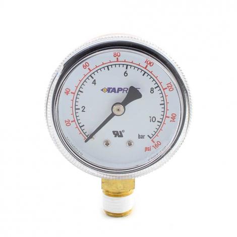 Taprite Regulator Gauge - Line Pressure - 160#