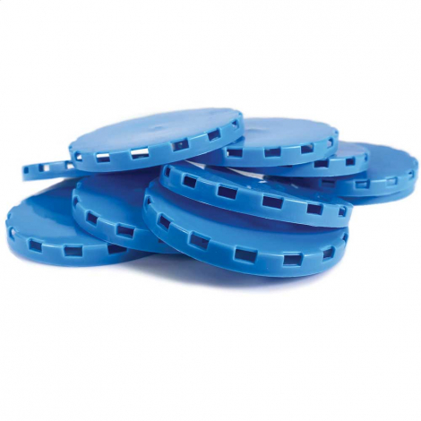 Vented Plastic Keg Cap - Blue