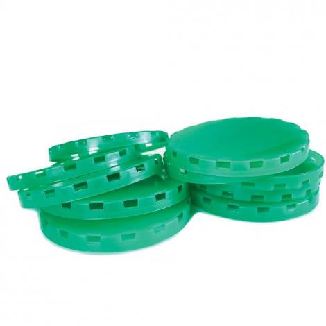 Vented Plastic Keg Caps - White - 100 Count