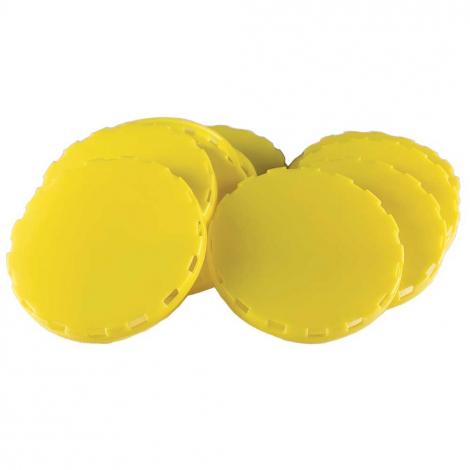 Vented Plastic Keg Caps - Yellow - 1000 Count