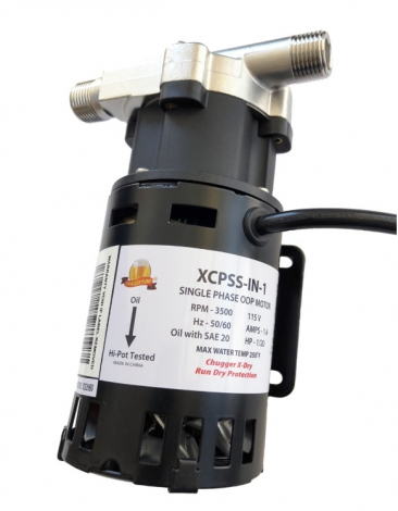 X-Dry Chugger Pump with Run Dry Protection - Stainless Steel Head