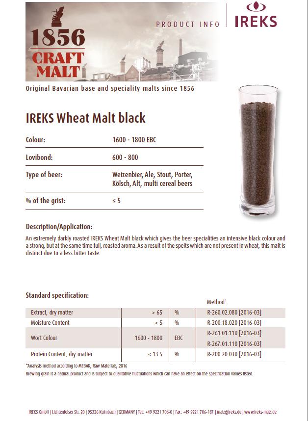 IREKS Black Wheat Spec