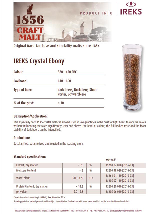 IREKS Crystal Ebony 150L