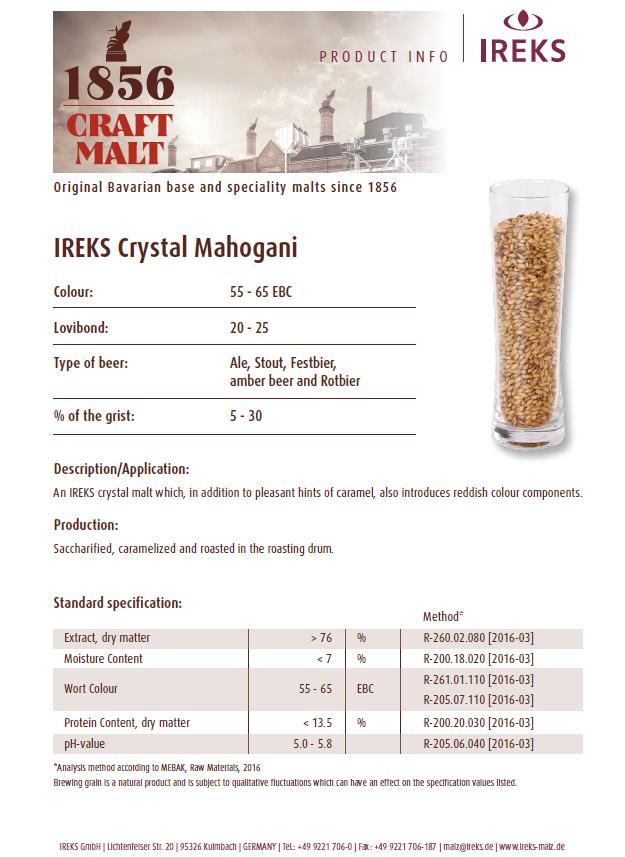 Ireks Crystal Mahogany 20L