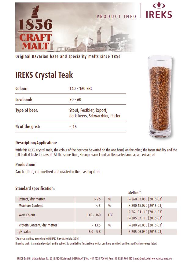 IREKS Crystal Teak 60L