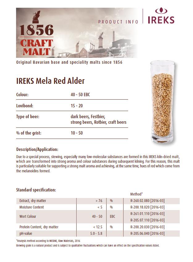 IREKS Red Alder Spec