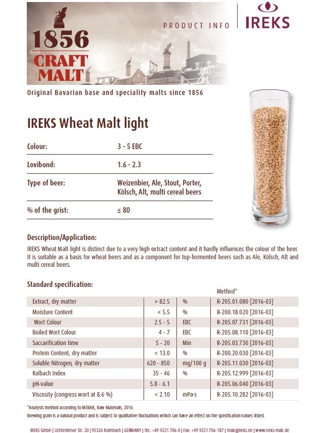 IREKS White Wheat Spec