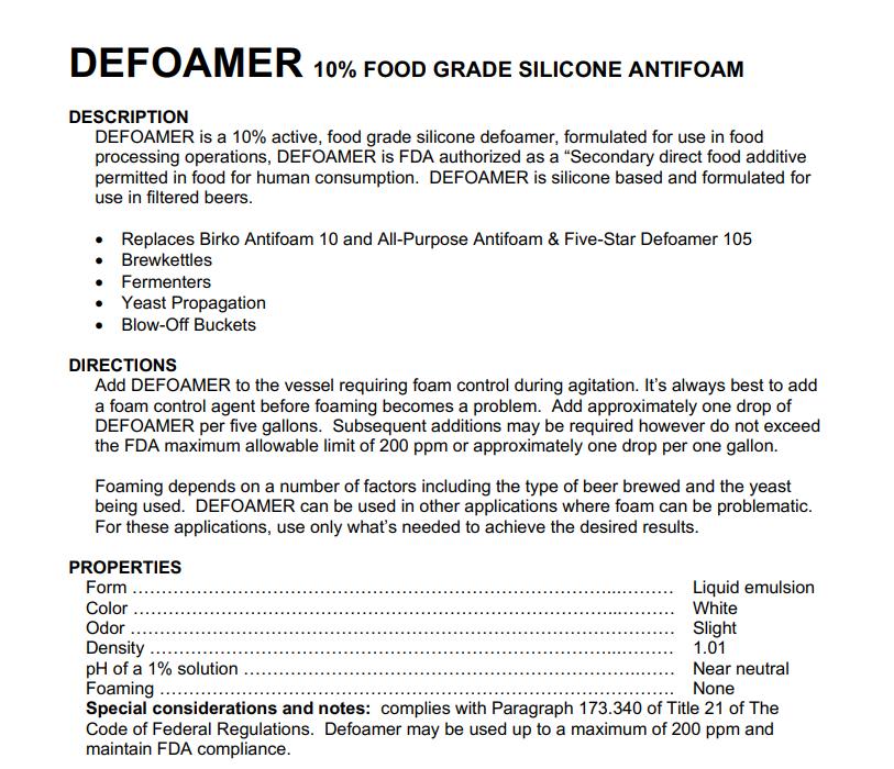 Ace Defoamer