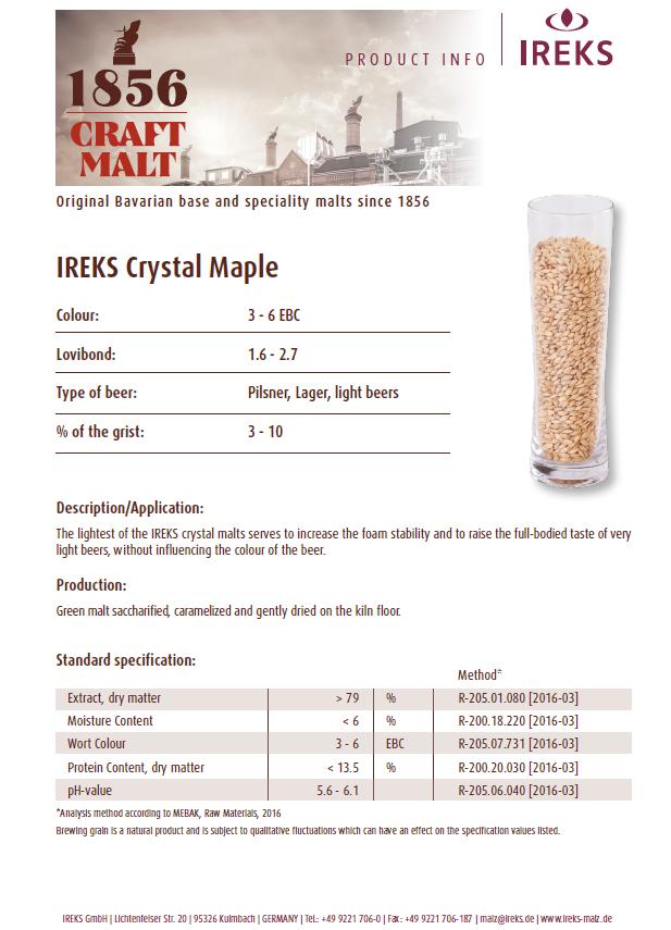 Ireks Crystal Maple 2L